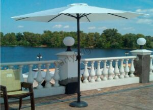 Зонт Ø 3 м + утяжелители, цвет – белый