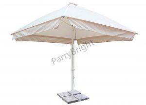Зонт 4х4 м + утяжелители, цвет – белый