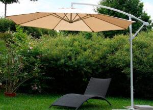 Зонт боковой Ø 2.7 м + утяжелители, цвет – белый